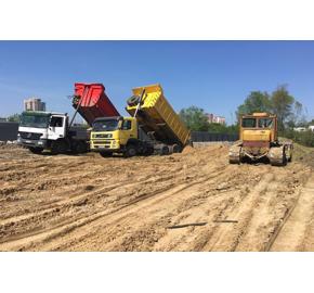 Отсыпка территории грунтом и песком